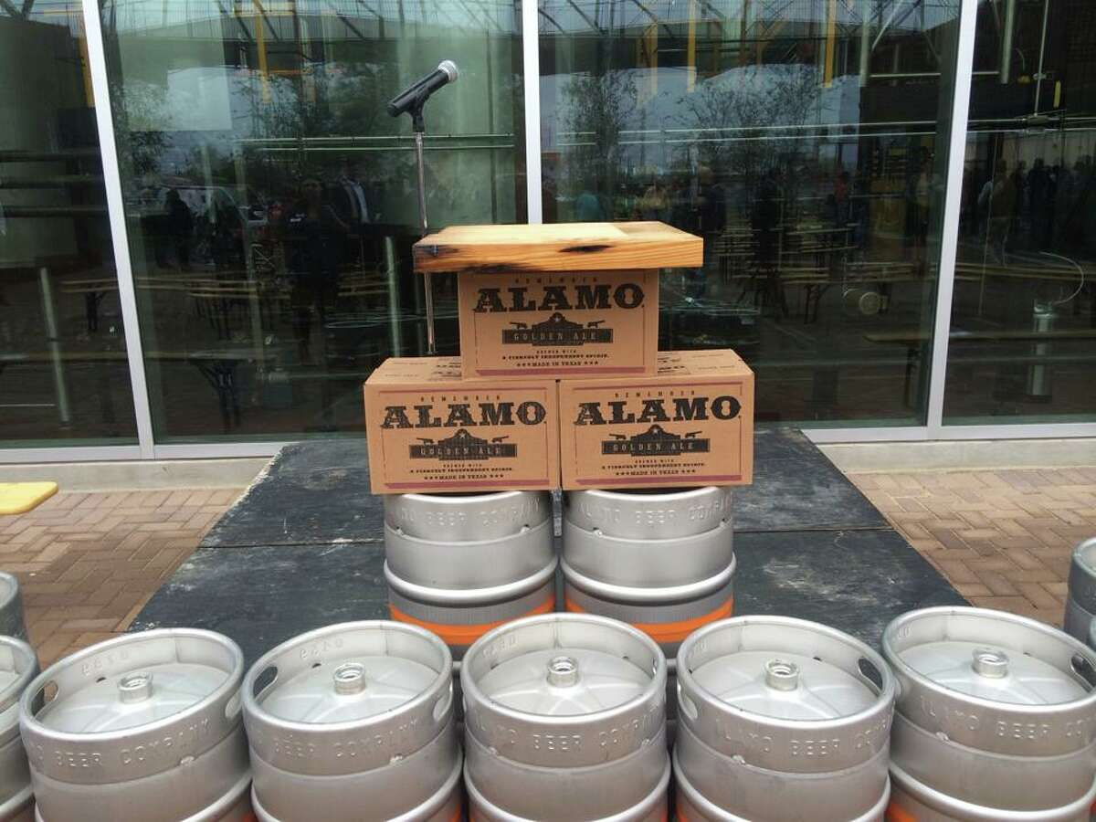 Alamo Beer's ribbon cutting ceremony on Friday, Dec. 5, 2014.