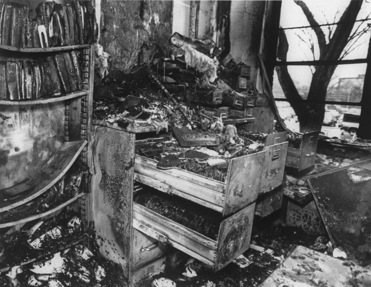 Group: Animal Liberation FrontDate: 1976 to presentMotive: Animal rightsMethods: Vandalism, destroying property, removing animals (Pictured above is the bombed-out remains of a mink research lab at Michigan State University).