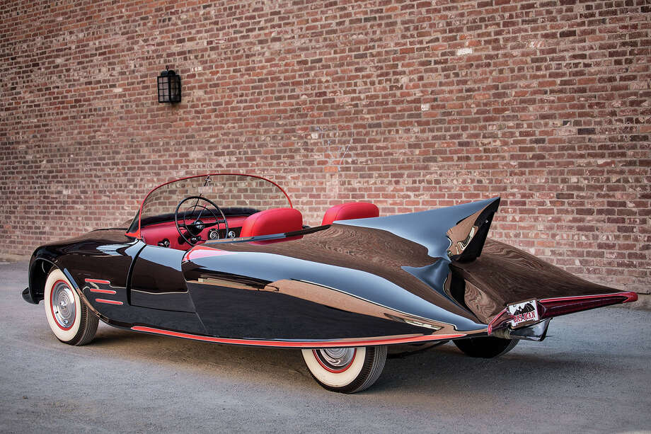 What is believed to be the world's first car that became an officially licensed Batmobile was conceived and customized starting in 1960 by 23-year-old Forrest Robinson. Robinson completed the car in 1963-two years before the George Barris customization of the TV Batmobile was started. Photo: Heritage Auctions