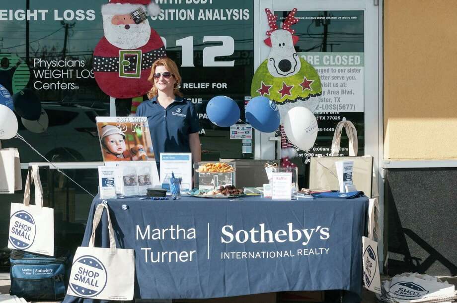 """Margaret Vinson, Realtor associate with Martha Turner Sotheby's International Realty, served as the """"Neighborhood Champion,"""" promoting the fifth annual Small Business Saturday, Nov. 29."""