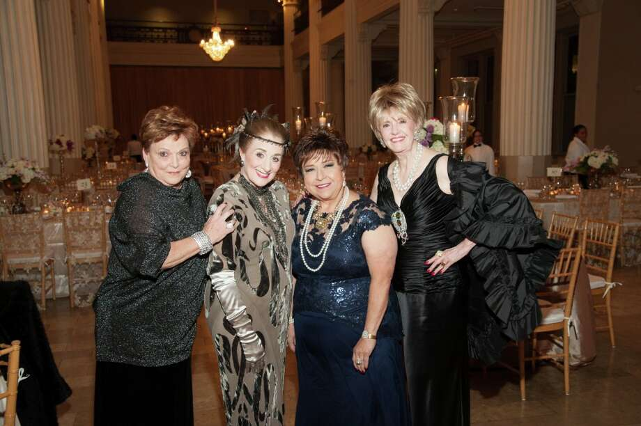 Shown at the 'Downtown Abbey' fundraiser are, left, Cindy Burns, Martha Turner, Trini Mendenhall and Harriet Hart. Photo: Alexander Rogers, Owner / Photographer / Alexander Rogers