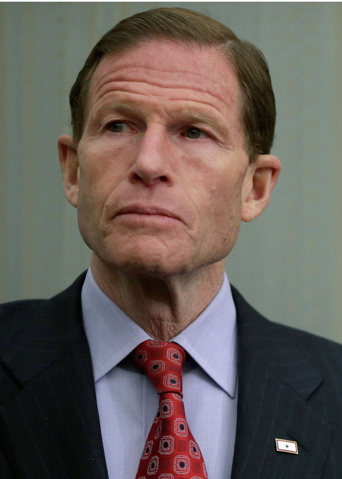 Sen. Richard Blumenthal (D-CT) participates in a news conference to highlight the benefits of raising the national minimum wage at the U.S. Capitol March 27, 2014 in Washington, DC.