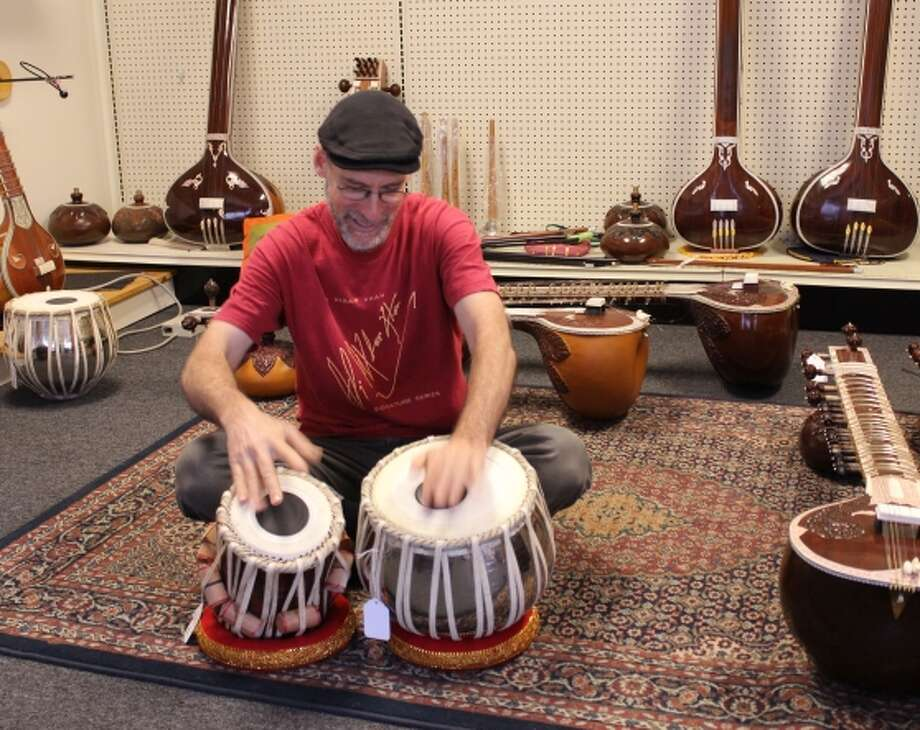 The Musician's Mall imports musical instruments from India. Photo: Stephanie Wright Hession / Special To The Chronicle / ONLINE_YES