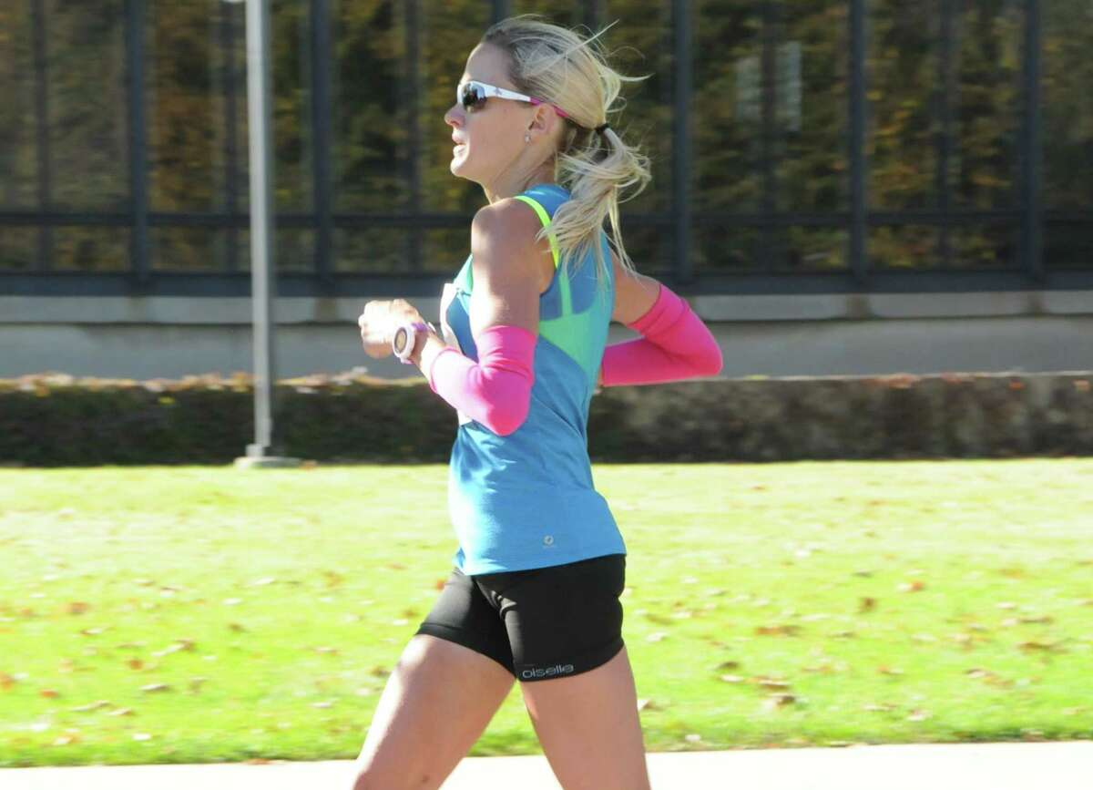 Andrea Duke, a 2016 U.S. Olympic Trials marathon qualifier and 35-year-old San Antonio resident, runs during training. Duke qualified for the Trials in October 2014 at the Chicago Marathon, where she covered 26.2 miles in 2 hours, 41 minutes and 5 seconds.