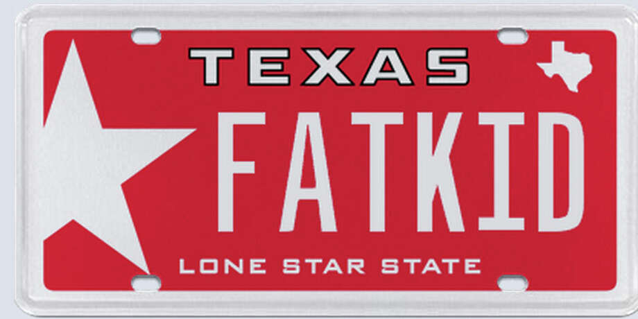Texans love to express themselves, but a few have crossed the line with license plates. Here are the license plates that have been recently rejected.This plate was rejected by the Texas Department of Motor Vehicles in the summer of 2013.