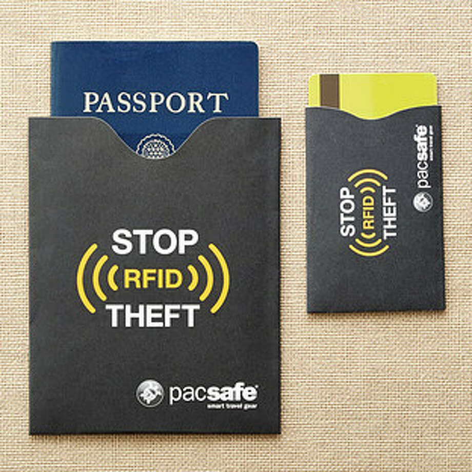 RFID-blocking passport and credit card sleeves are inexpensive but the peace of mind that comes with protecting your credit card and passport information while you travel is priceless. Photo: Courtesy Photo / The Container S