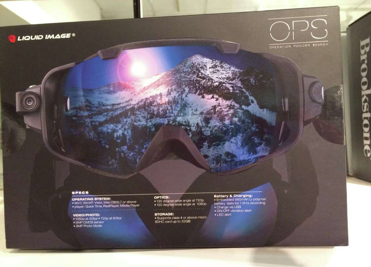 Liquid Image snow camera goggles from Brookstone let skiiers and snowboarders focus on their athletic skills while capturing downhill action in still or video photos.