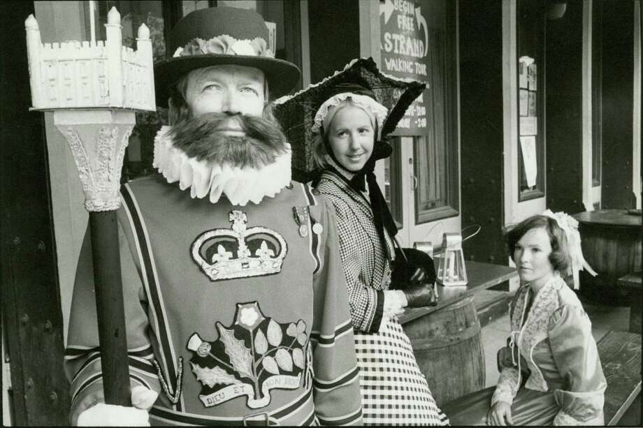 Since 1974, Galveston Historical Foundation have held their annual Dickens on the Strand festival. Visitors come to see volunteers dressed in 19th-century Victorian costumes and gaze upon the parades and entertainment. We take a look back on how Houstonians have celebrated the holiday through the years.  Photo: Chronicle File