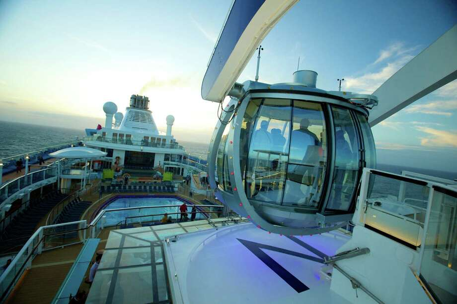 Royal Caribbean's new Quantum of the Sea features an attraction called North Star, a crane arm with a jewel-shaped glass capsule that gently rises more than 300 feet in the air and delivers 360 degree views of the ocean. Photo: Royal Caribbean, Photographer / Royal Caribbean