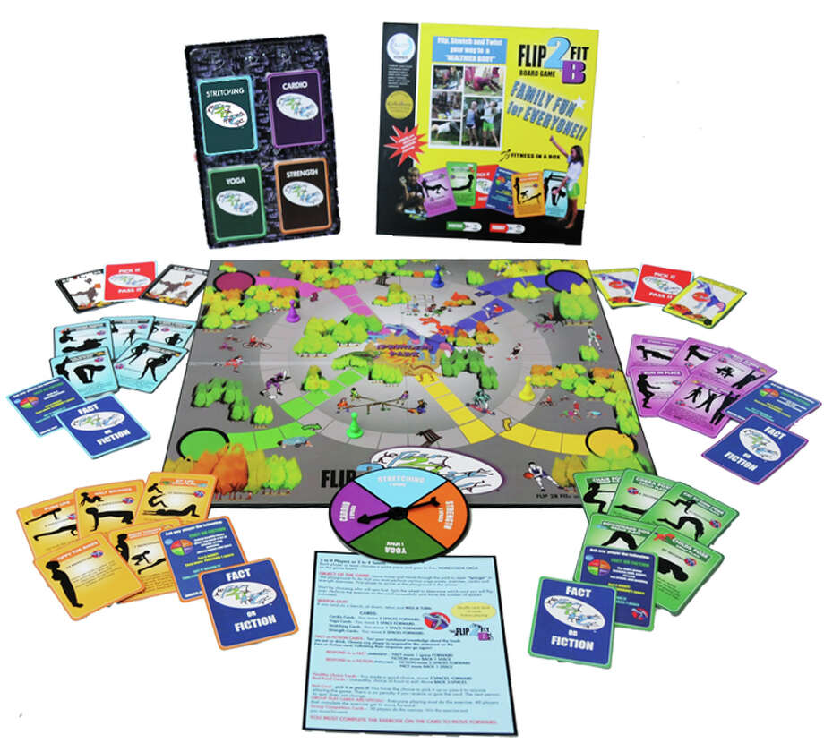 Flip2BFit Fitness in a Box: Families can get active and have fun playing this unique board game, in which players complete exercises that incorporate yoga, stretching, strength and cardio components. $34.95; flip2bfit.com