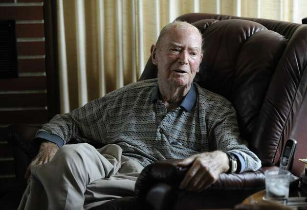 Pearl Harbor survivor William Langston speaks to the Times Union about his experience on December 7, 1941 at his home in Latham, N.Y., Dec. 2, 2011.  (Skip Dickstein/Times Union archive) Photo: Skip Dickstein / 2011