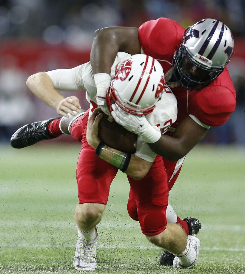 Katy and Manvel will meet for the third consecutive year in the Region III final, this time at 7:30 p.m. Friday at NRG Stadium. Photo: Karen Warren, Houston Chronicle