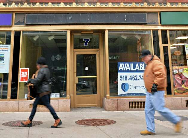 Empty storefront  at 7 North Pearl Street Friday Dec. 5, 2014, in Albany, NY.  (John Carl D'Annibale / Times Union) Photo: John Carl D'Annibale