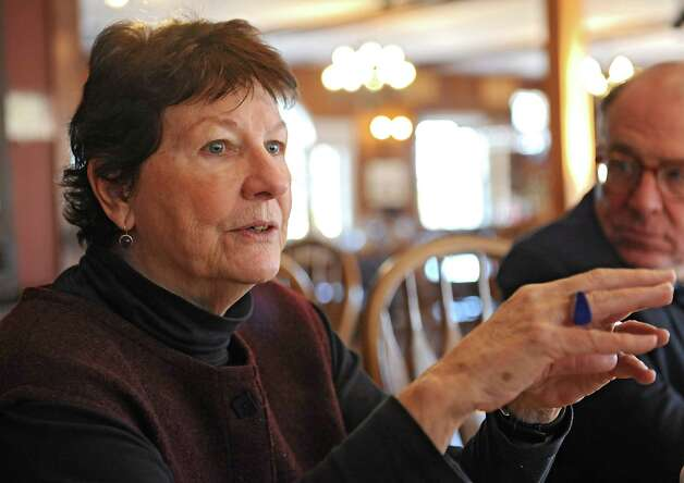 Carol Ash, director, talks about the future of the Carey Institute for Global Good while having lunch in The Carraige House restaurant on the grounds of the institute on Wednesday, Nov. 19, 2014 in Rensselaerville, N.Y.  (Lori Van Buren / Times Union) Photo: Lori Van Buren / 00029506A