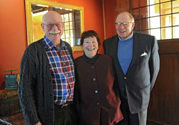 Josh Friedman and his wife Carol Ash, director, stand with trustee Chuck Houghton in The Carraige House restaurant on the grounds of the Carey Institute for Global Good on Wednesday, Nov. 19, 2014 in Rensselaerville, N.Y.  (Lori Van Buren / Times Union) Photo: Lori Van Buren / 00029506A