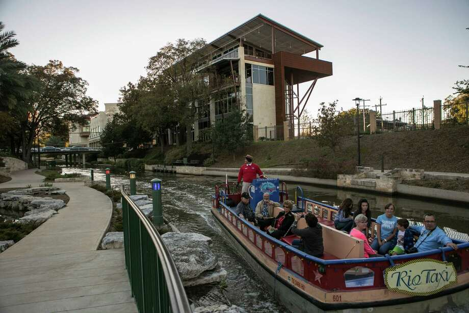 The Phipps office building along the Museum Reach of the River Walk. Photo: Spencer Selvidge /For The Express-News / Copyright 2014, Spencer Selvidge for the San Antonio Express-News