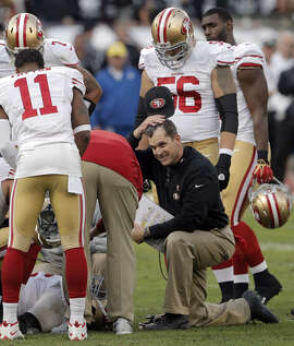 The 49ers would like to be compensated if head coach Jim Harbaugh goes to another team.