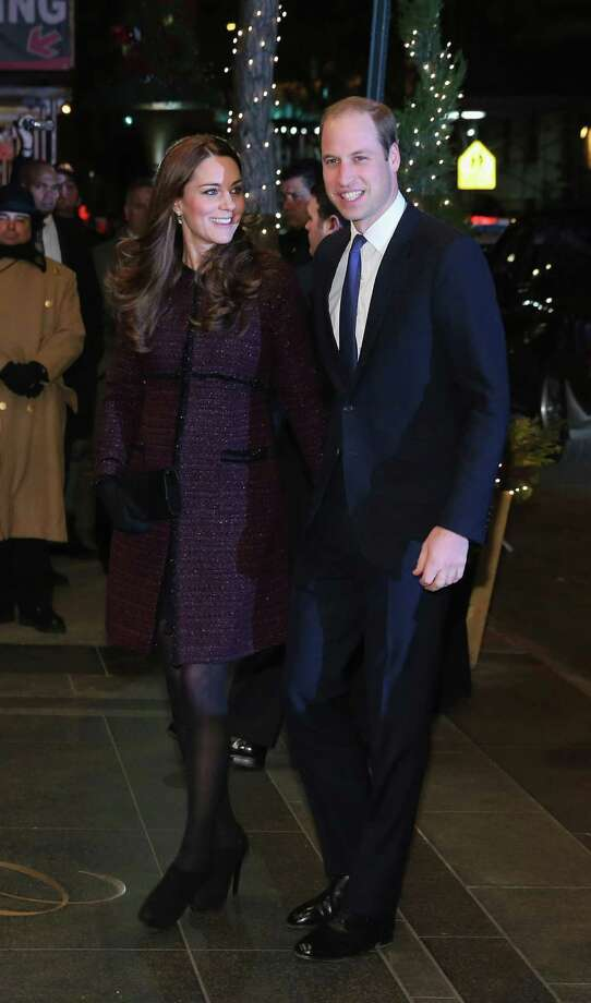 Britain's Prince William and his wife, Kate, arrive at The Carlyle Hotel in New York City, where they'll be staying as part of their two-day visit to the United States. The Carlyle was a favorite of William's mother, the late Princess Diana, during her frequent visits to Manhattan in the 1990s. Photo: Neilson Barnard / Neilson Barnard / Getty Images / 2014 Getty Images