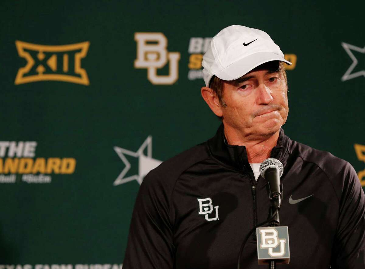 Baylor NCAA college head football coach Art Briles responds to questions during a press conference Sunday, Dec. 7, 2014, in Waco, Texas. After weeks of talk about whether Baylor or TCU deserved to be in the playoff, neither made it Sunday, and the Big 12 may be reconsidering how to declare its champion. (AP Photo/Waco Tribune Herald, Rod Aydelotte) ORG XMIT: TXWAC101