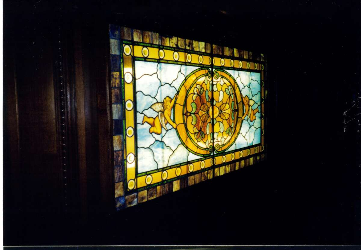 A stained glass skylight at the Alfred Dolge Mansion. (Submitted)