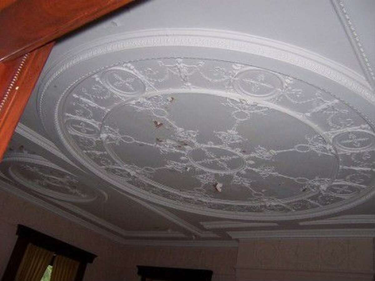 Master plaster moulders were brought in from Italy to create ceilings such as the one pictured in the Alfred Dolge Mansion. (Submitted)