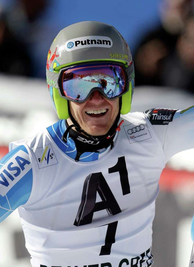 BEAVER CREEK, CO - DECEMBER 07:  Ted Ligety of the United States reacts after his second run in the Audi FIS World Cup Men's Giant Slalom Race on the Birds of Prey course on December 7, 2014 in Beaver Creek, Colorado. Ligety won the race.  (Photo by Ezra Shaw/Getty Images) ORG XMIT: 526581597 Photo: Ezra Shaw / 2014 Getty Images