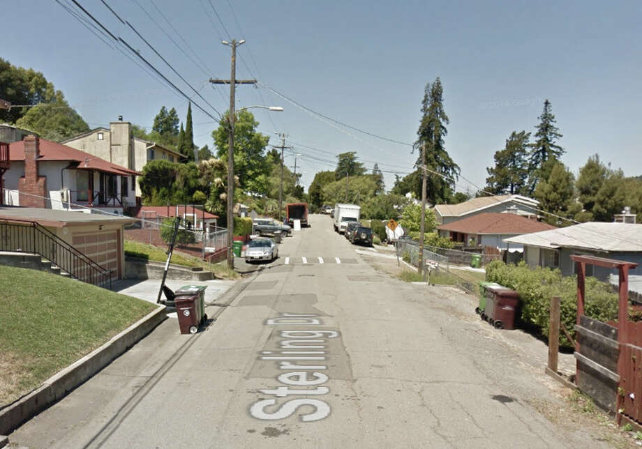 7900 block of Sterling Drive, Oakland, CA. Photo: Google Maps