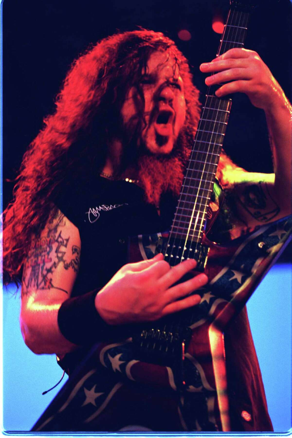 Pantera guitarist Darrell 'Dimebag' Abbott at Ozzfest Sunday Aug. 20,2000 at the Houston Raceway Park. (Dave Rossman/Special to the Chronicle).