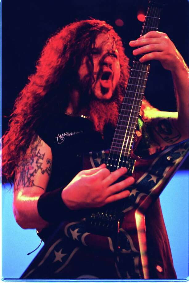 Pantera guitarist Darrell 'Dimebag' Abbott at Ozzfest Sunday Aug. 20,2000 at the Houston Raceway Park. (Dave Rossman/Special to the Chronicle).  Photo: Dave Rossman, File  / Freelance