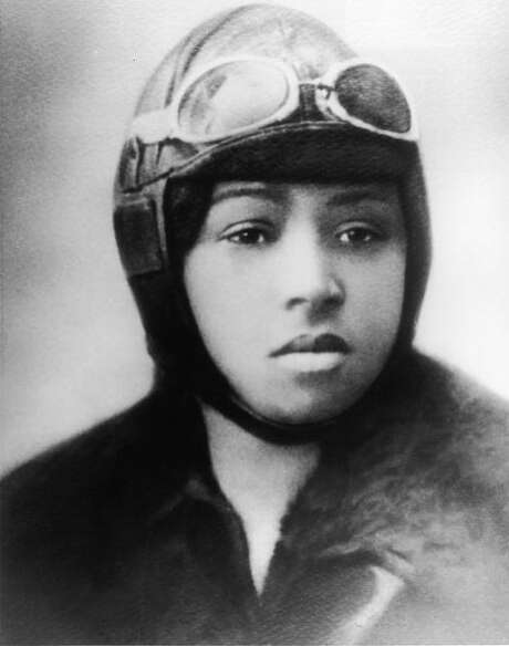 Born in Atlanta, Texas, Bessie Coleman was the first female  airplane pilot of African-American descent. She was also the first person of color to hold an international pilot license. She died in 1926 at the age of 34 in a plane crash. (Photo by Fotosearch/Getty Images). Photo: Fotosearch, File  / 2010 Getty Images
