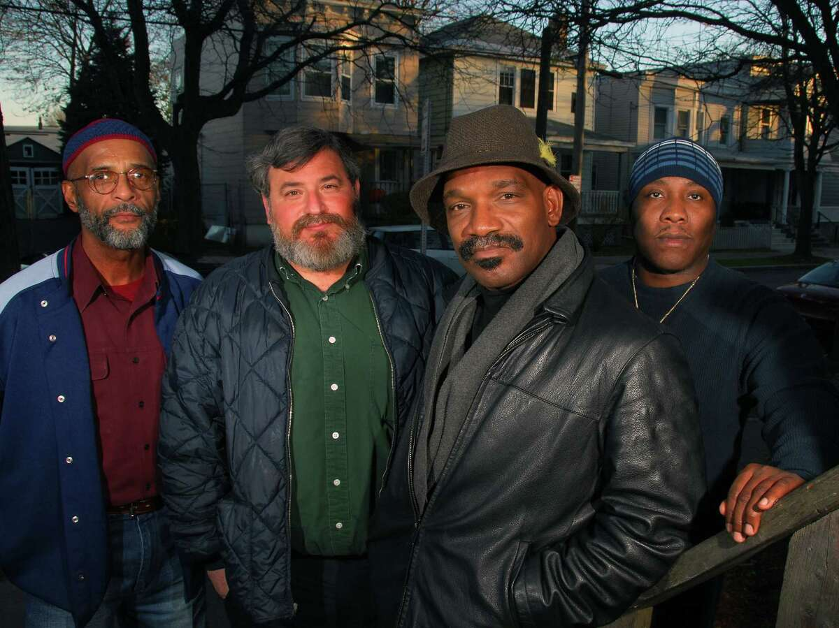 A 2006 file photo shows restorative justice facilitators, left to right, Yusuf Burgess, John Cutro, Dennis Mosley and Randy Williams in Albany. (John Carl D'Annibale/Times Union archive)