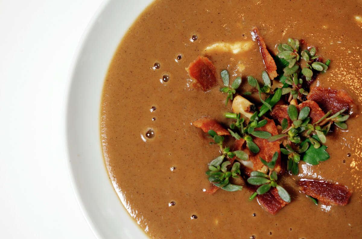 Jerusalem Soup is seen at Press restaurant.