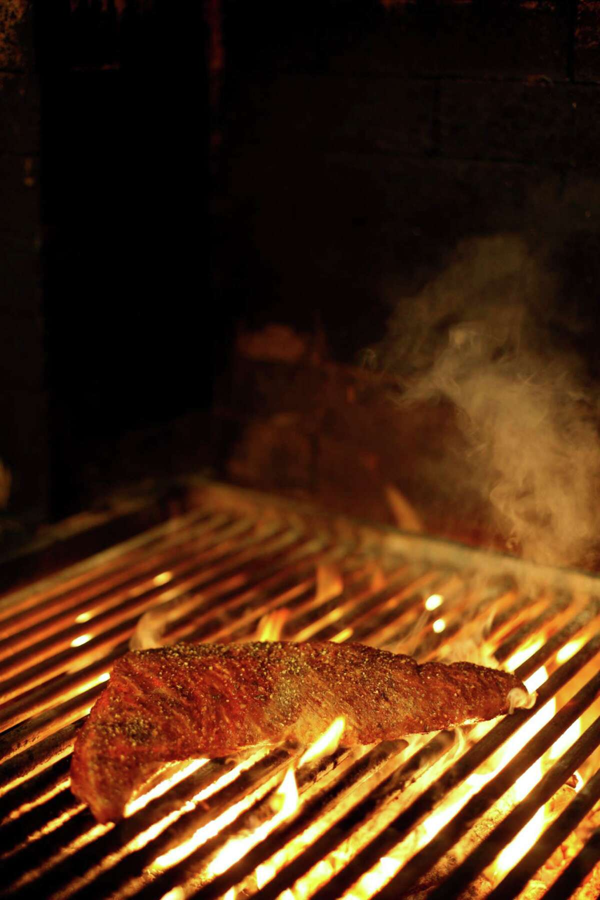 Press executive chef Trevor Kunk's holiday menu for Chronicle readers features marinated and grilled whole tri-tip.