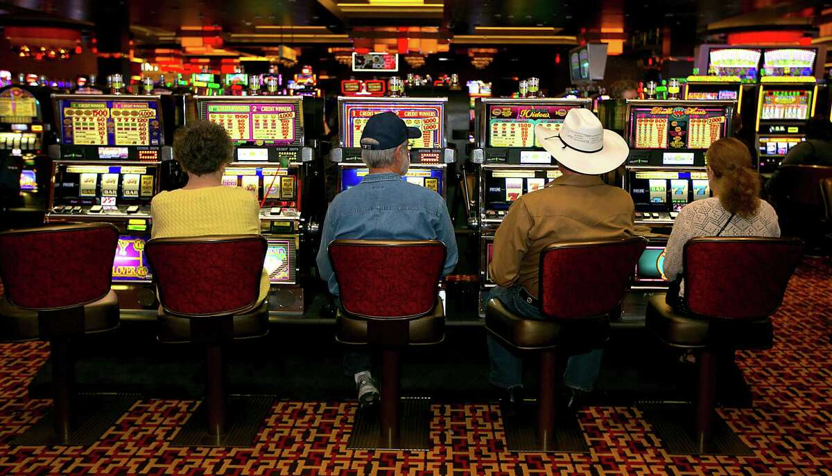 Guest play slot machines in the Golden Nugget Hotel & Casino Monday, Dec. 8, 2014, in Lake Charles.