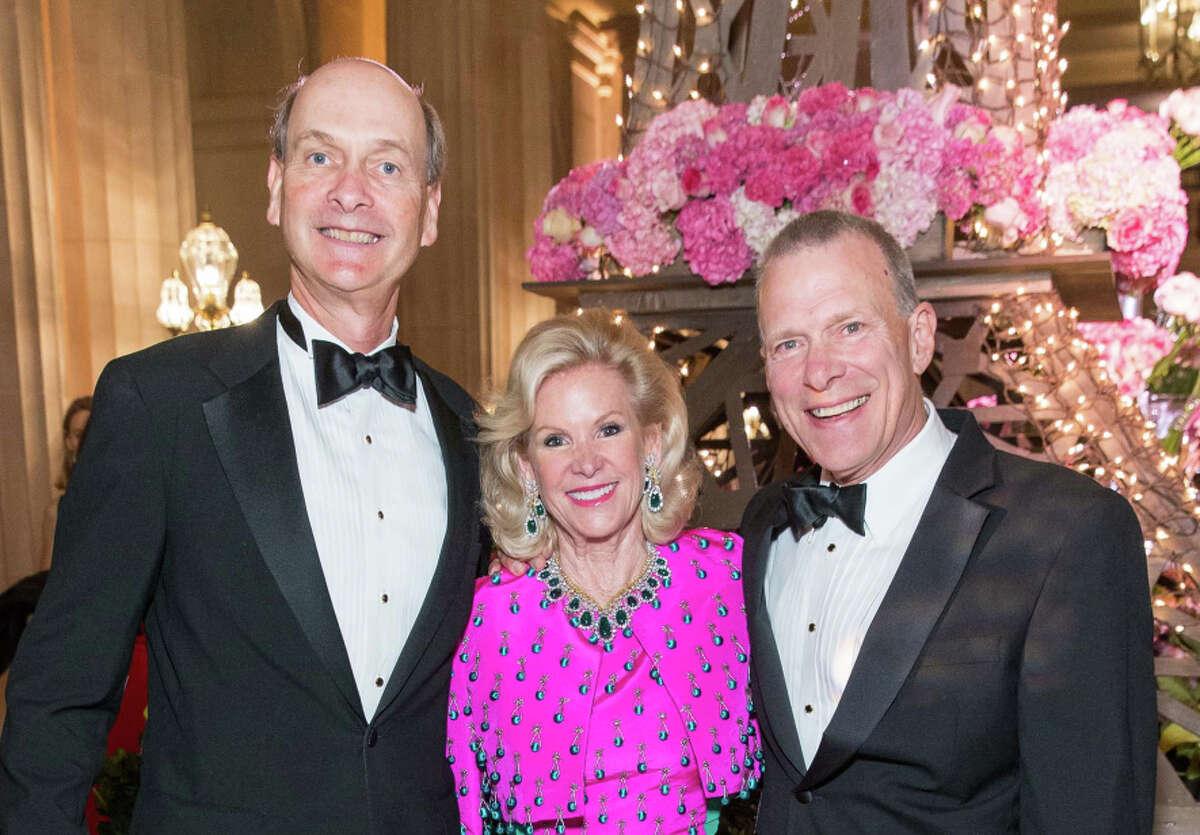 Honoree Dede Wilsey is flanked by S.F. Opera board President Keith Geeslin (left) and Opera General Director David Gockley.