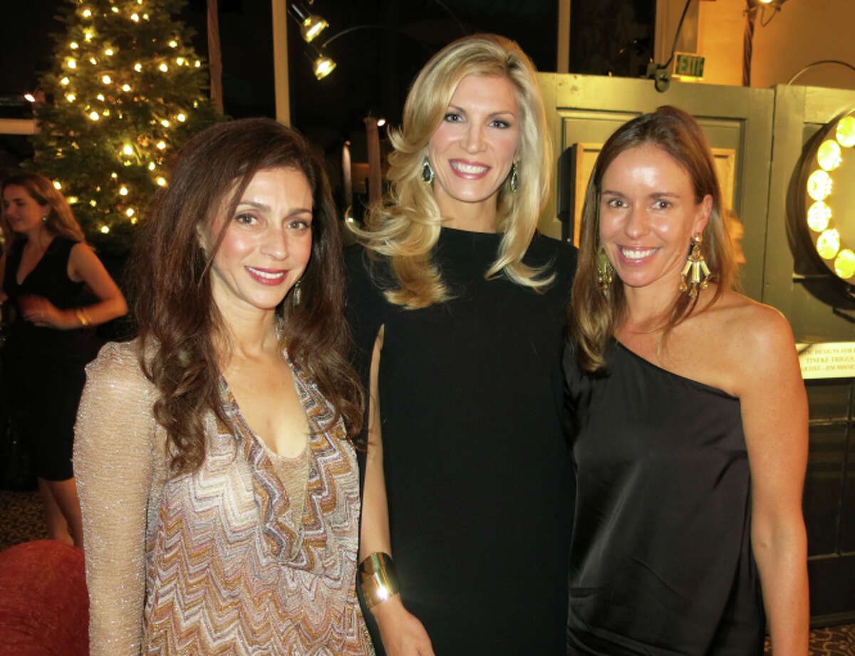Children of Shelters' trustee Maryam Muduroglu (left) with Jingle & Mingle co-chairs Shonaree Michael and Stephanie Plexico at the wreath auction.