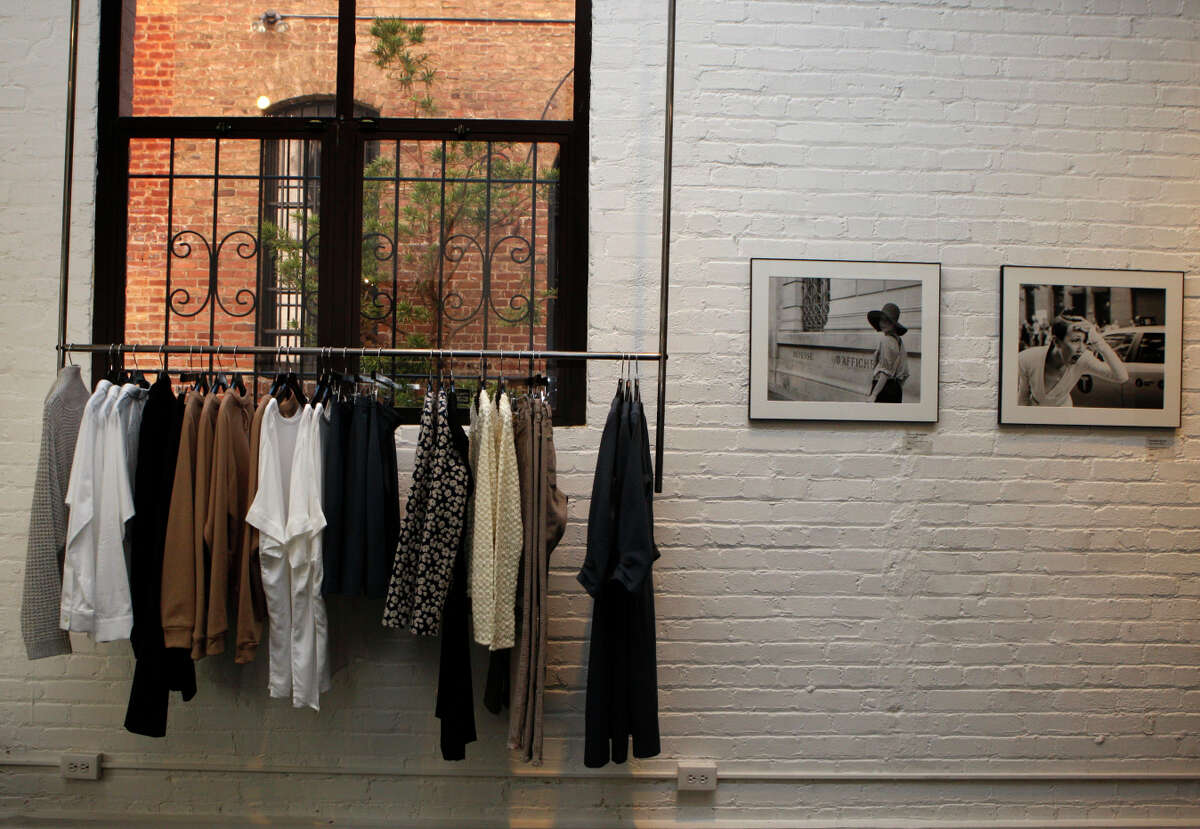 La Boutique in the Jackson Square area of S.F. carries designer clothing and is also an art gallery.