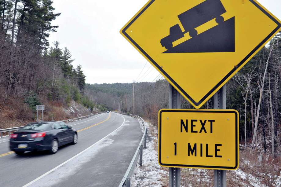 A view looking east along Route 7, near the area where a tractor trailer crash occurred recently, seen here on Monday, Dec. 8, 2014, in Hoosick, N.Y.  (Paul Buckowski / Times Union) Photo: Paul Buckowski / 00029780A