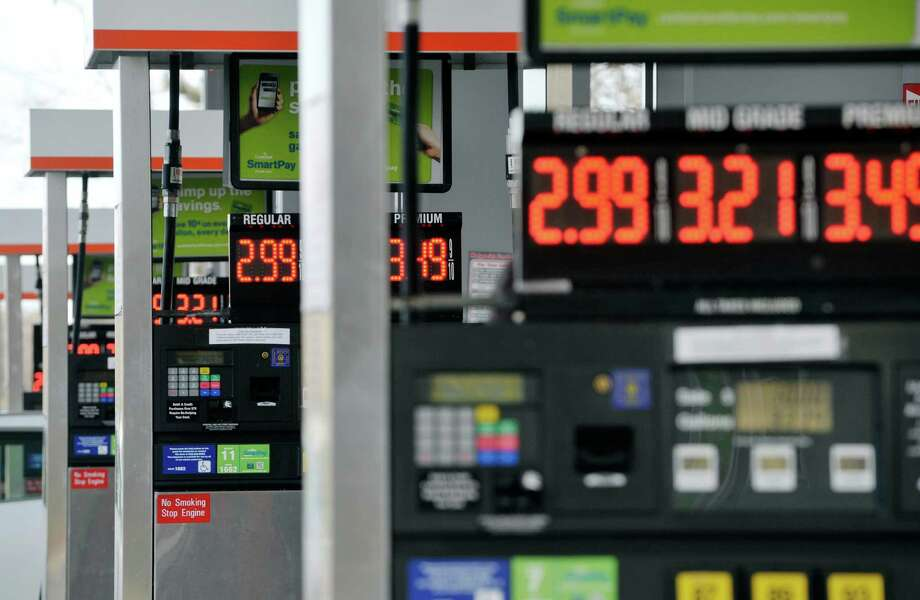 A view of the gas pumps at the Cumberland Farms on Monday, Dec. 8, 2014, in Glenmont, N.Y.  (Paul Buckowski / Times Union) Photo: Paul Buckowski / 00029776A