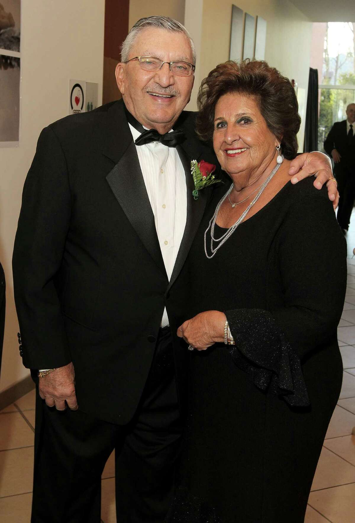 Philanthropists Morris and Esther Massry during the Massry Center for the Arts fifth anniversary celebration at the College of Saint Rose in April 2013. Morris Massry died in 2018. (Photo by Joe Putrock/Special to the Times Union)