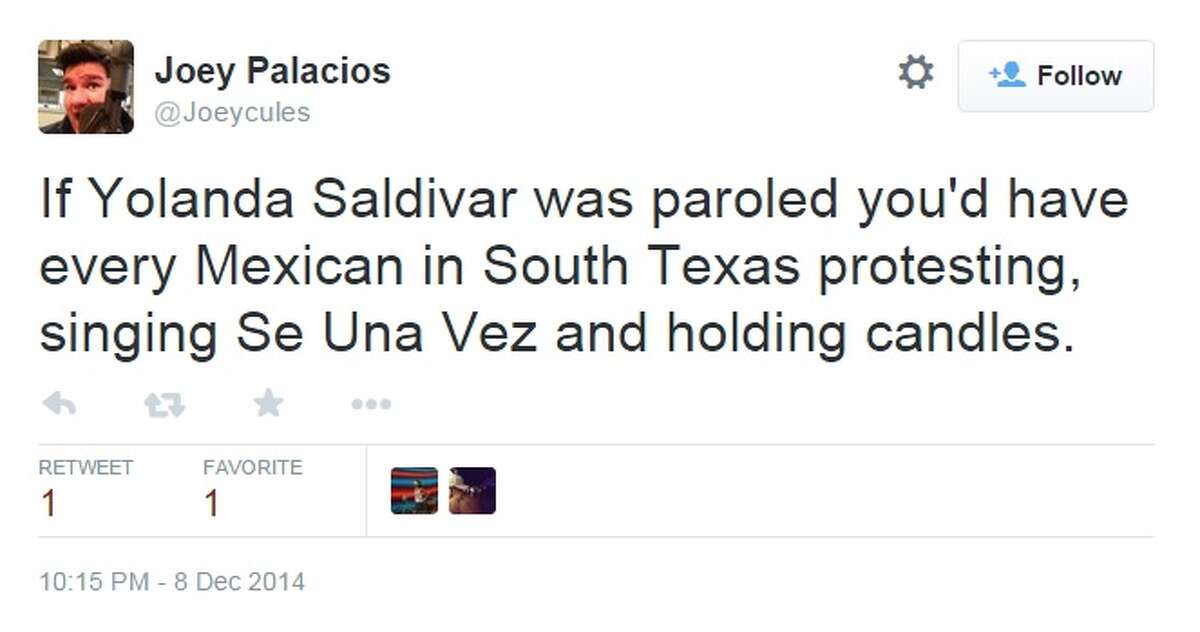 Screenshots of Twitter statuses show reactions from The National Report's article announcing Yolanda Saldivar, who killed Tejano legend Selena Quintanilla-Perez, will leave prison early. The story was proven false, but the