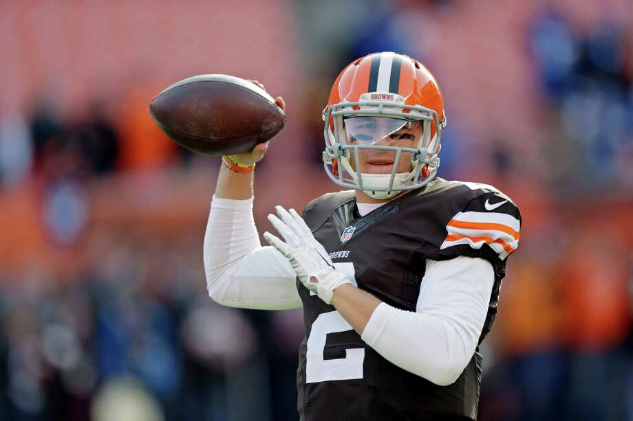 Cleveland Browns quarterback Johnny Manziel warms up before an NFL football game against the Indianapolis Colts Sunday, Dec. 7, 2014, in Cleveland. Photo: Tony Dejak, STF / Associated Press / AP