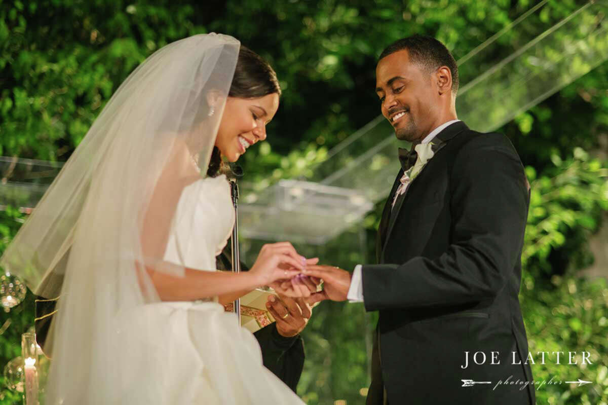 Meaghan Chrystal Roberts and Je'Caryous Johnson were wed in a luxurious Beverly Hills wedding Nov. 15, 2014. Johnson, a graduate of the University of Houston, is a producer, director, playwright and CEO of Je'Caryous Johnson Entertainment.