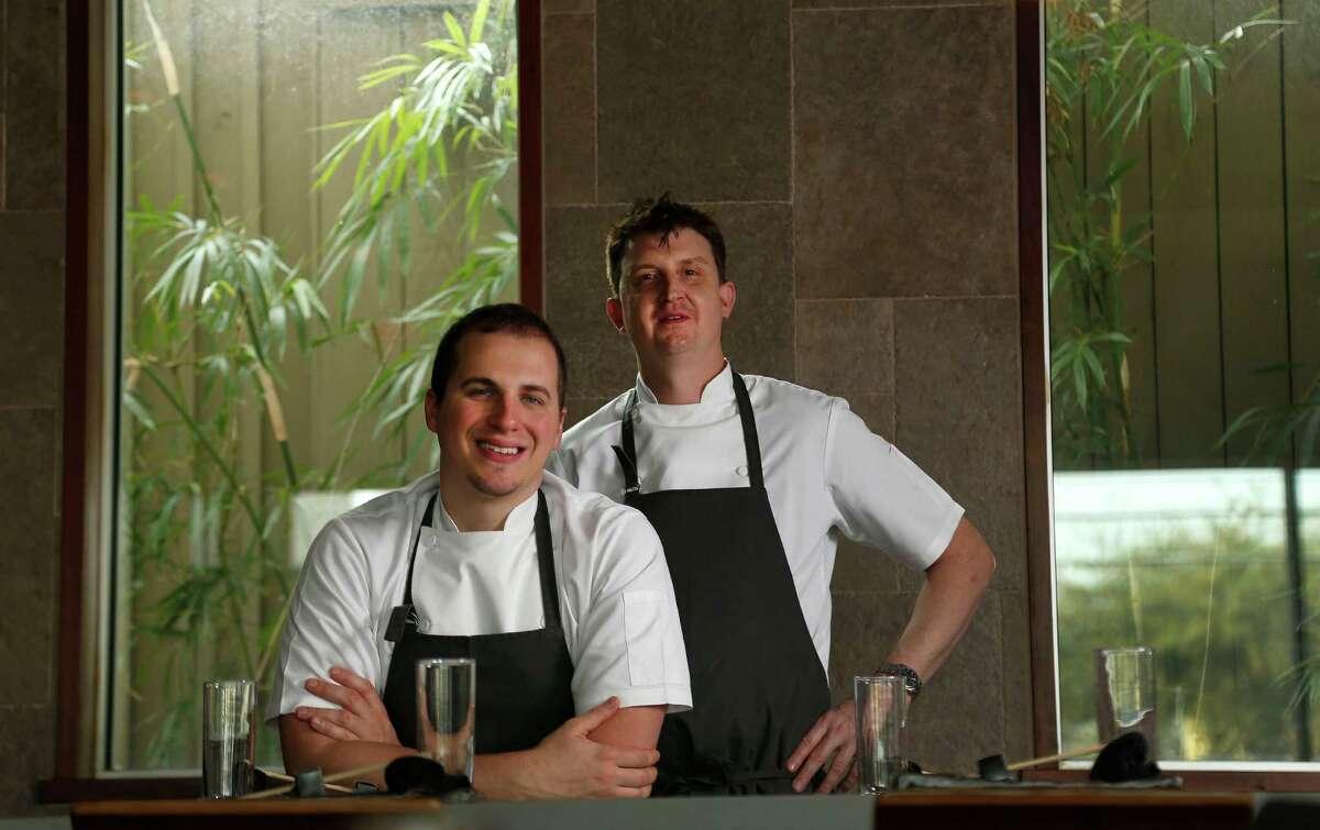 Chef Jordan Asher, left, and Chef Daniel Toro photographed at Dosi Restaurant and Soju Bar, Wednesday, Dec. 3, 2014, in Houston. ( Karen Warren / Houston Chronicle )