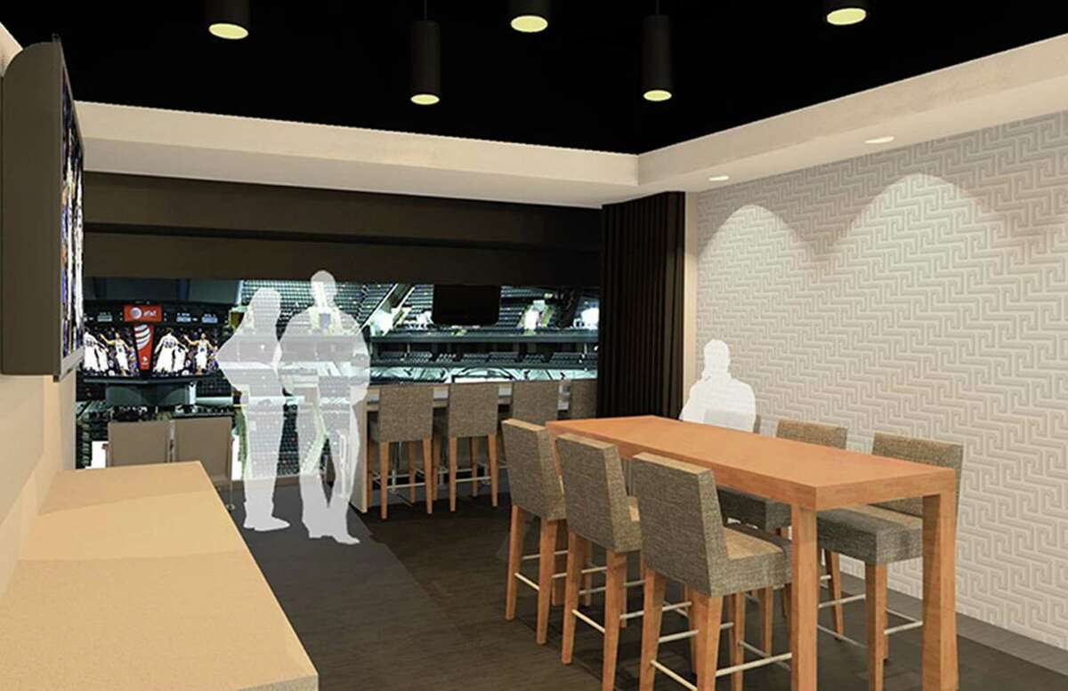 A rendering of proposed changes to the terrace level of the AT&T center, part of a $101.5 million renovation pacakge