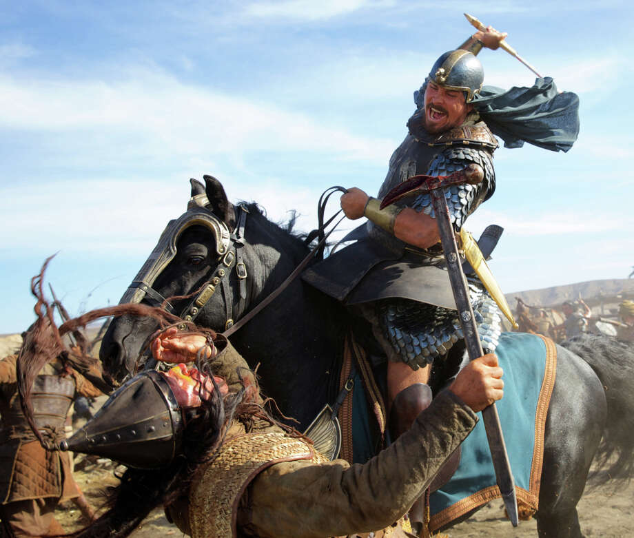 "Christian Bale as Moses in ""Exodus: Gods and Kings."" Photo: Kerry Brown / Associated Press / 20th Century Fox"