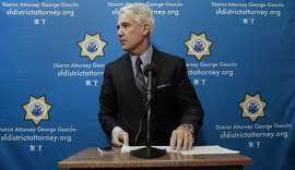 San Francisco District Attorney George Gascon announces a civil consumer protection action against Uber on Dec. 9.