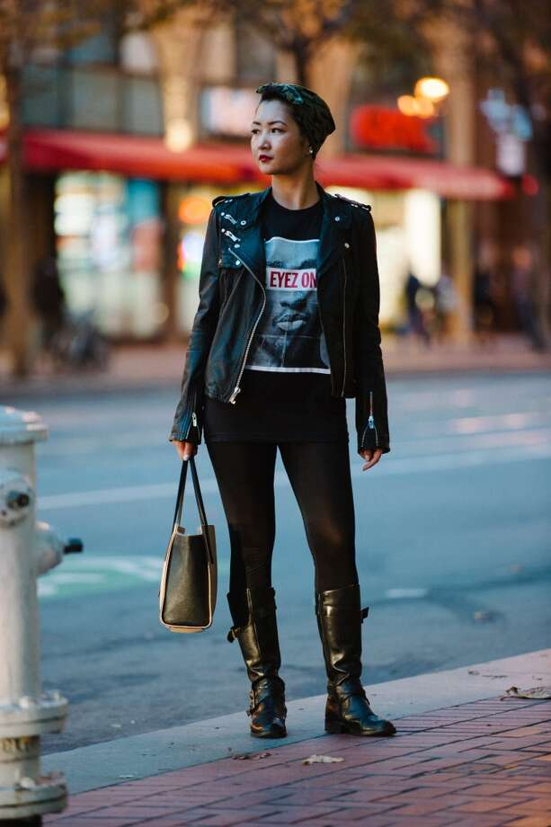 "Undral Gerelkhuu describes her style as ""pop-culture influenced, and a grunge look with a 'rockabetty' finishing touch."" Photo: William C Rittenhouse"