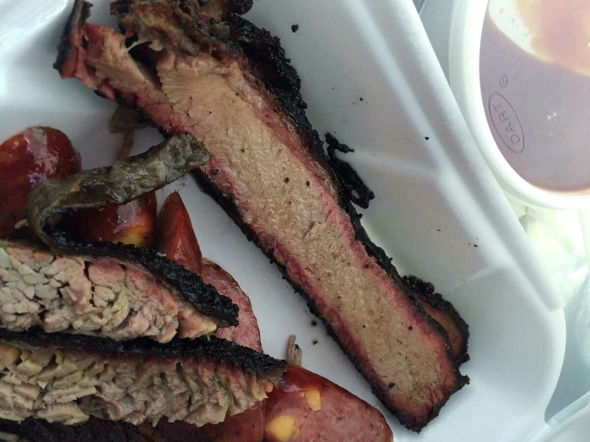 Lean brisket at Roegels Barbecue Co.