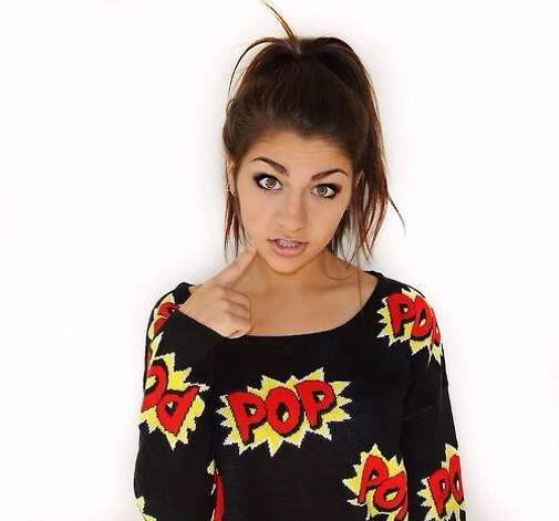 Andrea Russett became a YouTube sensation after posting a video as part of a contest to meet Justin Bieber. Photo: Courtesy Photo
